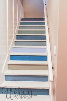 Our depressing basement stairwell got a facelift with board and batten… :: Hometalk