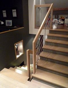 Marches en bois sur escalier béton Ascenso.