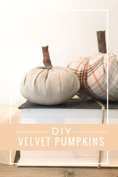 DIY velvet pumpkins.  There's a full video on how to make one here!  So easy!!