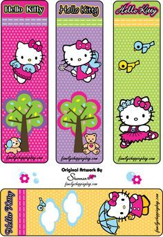 Free printable hello kitty bookmark
