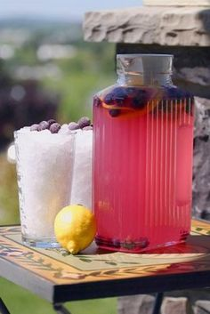 Blueberry Mint Lemonade or a Pitcher or a Mojitos recipe