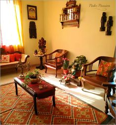 Pinkz Passion : Touch of Traditional Elegance (Home Tour of Shubhaa Satish) What is Decoration? Decoration could be the art … Indian Home Interior, Indian Interiors, Ethnic Home Decor, Indian Home Decor, Indian Bedroom Decor, Indian Decoration, Sala Indiana, Living Room Designs, Living Room Decor