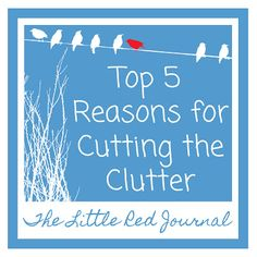 Top 5 Reasons for Cutting the Clutter | The Little Red Journal | #clutter #organization #home