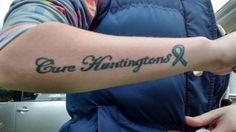 Hd Tattoos, Tattoo Quotes, Awareness Tattoo, Huntington Disease, Mom And Grandma, In Loving Memory, Pray, The Cure, Sick
