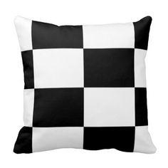 Black# And #White #Squared #Cushion #Throw #Pillow#