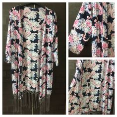 Buy yours today: Grey Tasseled, Bl..., visit http://ftfy.bargains/products/grey-tasseled-blue-pink-flowers-on-navy-blue-long-causal-shrug?utm_campaign=social_autopilot&utm_source=pin&utm_medium=pin  #amazing #affordable #fashion #stylish