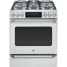 GE 5.4 cu. ft. Gas Range with Self-Cleaning Convection Oven in Stainless Steel-CGS985SETSS at The Home Depot