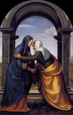 """""""Visitation"""" by Mariotto Albertinelli, 1503 (Galleria degli Uffizi, Florence, Italy)"""