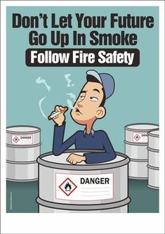 Fire Safety Posters – Safety Poster Shop Fire Safety Poster, Health And Safety Poster, Safety Posters, Speech Script, Safety Cartoon, Safety Topics, Food Safety, Poster Shop, Safety Slogans