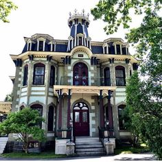 Located in Cowansville,Quebec, Canada, is this Gorgeous second empire Victorian... - http://home-painting.info/located-in-cowansvillequebec-canada-is-this-gorgeous-second-empire-victorian/