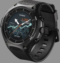 Casio Releases An Android Wear Watch That You Can Beat Up  Casio the biggest name in rugged sports watches has dipped a cautious toe into the smartwatch space with their new WSD-F10. This watch features an dual LCD/LED touchscreen and a battery life of about a day. It also features a rugged case and band in line with Casios Edifice and Protrek series of sports watches. It also features an internal altimeter barometric pressure sensor and Read More  Source : http://ift.tt/1Ju8etZ  Filed…