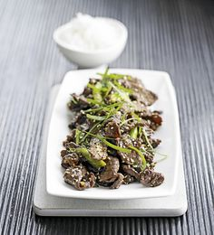 Korean style beef, recipes, BBQ Recipes, Recipes with Beef, Best steak recipes Quick Recipes, Asian Recipes, Beef Steak Recipes, Recipe Finder, Food Trends, Wok, Clean Eating Snacks, Sushi, Foodies