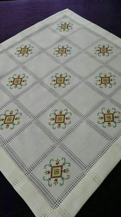This Pin was discovered by Cih Cross Stitch Boards, Just Cross Stitch, Cross Stitch Needles, Embroidery Stitches, Embroidery Patterns, Hand Embroidery, Palestinian Embroidery, Barn Quilt Patterns, Swedish Weaving