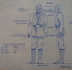 Ben Kenobi Action Figure Blueprint and Color Specification Sheet - Star Wars Collectors Archive