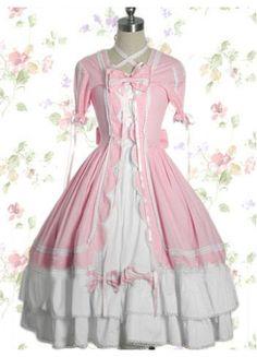 #Lolita #Dress  Cute White And Pink Sweet Lolita Dress