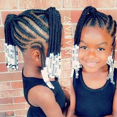 See 31 GORGEOUS braid hairstyles for Black women and kids. You'll get NEW ideas and updos for Black braided hair. Box braids hairstyles for girls & much more. Lil Girl Hairstyles Braids, Black Little Girl Hairstyles, Little Black Girls Braids, Little Girl Braid Styles, Natural Hairstyles For Kids, Braided Hairstyles For Black Women, Braids For Black Hair, Natural Hair Styles, Hairstyle For Kids
