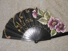 Alabastrina Técnicas Decorativas.: abanicos Vintage Fans, Evening Dresses For Weddings, Classic Paintings, Adult Coloring, Decoupage, The Past, Arts And Crafts, Wall Decor, Fancy