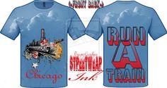 chicago run a train t-shirt designed by streetwear by ~StreetWearinc on deviantART