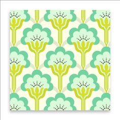 TRUE COLORS - POP BLOSSOM - TURQUOISE - PWTC015 - TURQU - Cvjetni uzorci - Anine tkanine - Dizajnerske i dekorativne tkanine