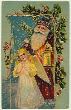 1910 Christmas Postcard