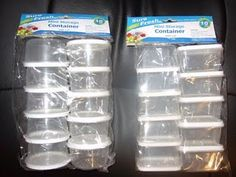 use these (from dollar tree) or the mini glad ware to store table group sets of bingo chips, etc