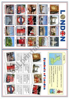 Picture dictionary + matching exercices in two versions: the colour one has got bictures, the BW one has got cliparts. English Vocabulary, English Grammar, Teaching English, English Language, English Primary School, English Classroom, English Day, Learn English, Picture Dictionary