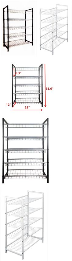 shoe organizers modern wooden 5tier shoe rack 6 pairs shoe shelf storage organize furniture new u003e buy it now only on ebay