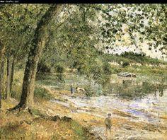 Camille Pissarro Scenic shore