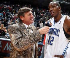 Craig Sager interviews Dwight Howard following the Orlando Magic's win over the…