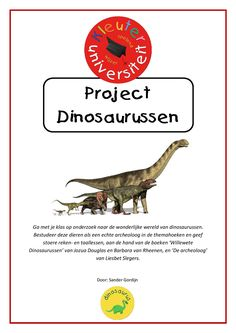 Dinosaurussen | Kleuteruniversiteit Dinosaurs, Kunst