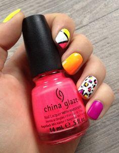 The Sunday Nail Battle // 80's nail // Modern Girl