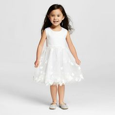 Miss Treasures Toddler Girls' Sleeveless Dress - White