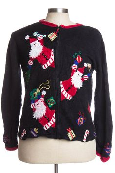 These Santas sure are excited!!!! and this sweater is only $25!!