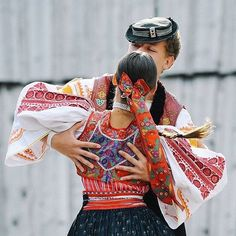 Dancers from Ocova, Central Slovakia Folk Costume, Costumes, The Older I Get, Heart Of Europe, Dark Eyes, World Cultures, Korea, Old Things, History