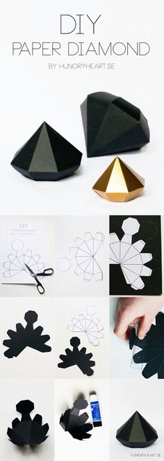 Best DIY Gifts for Girls - DIY Paper Diamond - Cute Crafts . - Best DIY gifts for girls – DIY paper diamond – cute crafts and …, - Easy Crafts For Teens, Diy For Girls, Diy And Crafts, Summer Crafts, Kids Girls, Felt Crafts, Teen Diy, Decor Crafts, Kids Diy