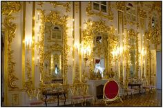 a wall in the Ballroom, Peterhof Palace, St. Petersburg, Russia