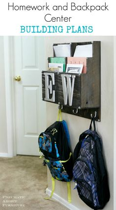 Homework and Backpack Center Building Plans