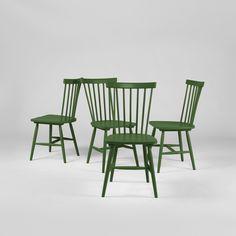 Wood pinnstol H17, olive green från Department – Köp online på Rum21.se - Green kitchen chairs