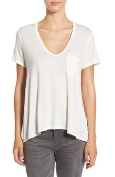 CASUAL TOP || Lush Lush Deep-V Neck Tee available at #Nordstrom