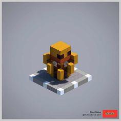 2017 Statue Collection (Redux) - Minecraft World Minecraft Temple, Minecraft Building Guide, Minecraft Statues, Minecraft Structures, Minecraft Mobs, Minecraft Banners, Minecraft Fan Art, Minecraft Plans, Amazing Minecraft