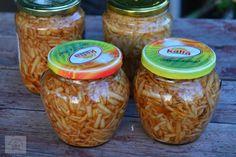 Mere rase la borcan - CAIETUL CU RETETE Salsa, Mason Jars, Deserts, Food, Decor, Canning, Decoration, Essen, Mason Jar