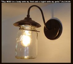 Now for your Farmhouse Porch TheLampGoods - EXTERIOR Mason Jar Wall SCONCE Light, $85.00