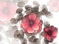 Eastern Floral (Rose Hue) Mural - Frannie Funn| Murals Your Way