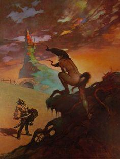 Vintage Frank Frazetta Art PONY TAIL 1967 Full Color Plate Fantasy GGA Sci-Fi #Vintage