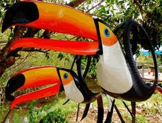 Arte Pvc Pipe Crafts, Recycled Crafts, Diy Projects Yard, Projects To Try, Garden Crafts, Garden Art, Tyres Recycle, Recycled Tires, Tired Animals