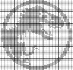 jurassic park world Jurassic Park-Logo-Diagramm Random Quotes: Beaded Cross Stitch, Crochet Cross, Crochet Chart, Cross Stitch Charts, Cross Stitch Designs, Cross Stitch Embroidery, Cross Stitch Patterns, Geek Cross Stitch, Hand Embroidery Patterns