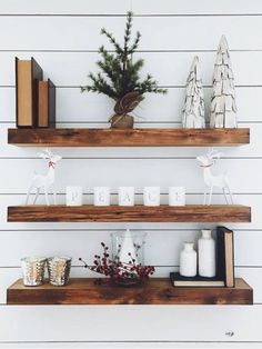 Wooden Wall Floating Shelf, Nursery Shelf, Essential Oil Shelf, Floating Shelf Bracket – My World Floating Shelf Brackets, Wooden Floating Shelves, Solid Wood Shelves, Mounting Brackets, Glass Shelves, Wood Shelf, Floating Cabinets, Floating Wall, Ikea Lack Shelves