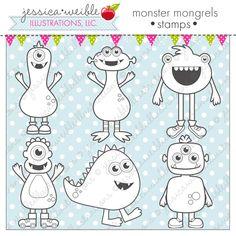 Monster Mongrels Stamps - Digital Stamps - Mygrafico.com