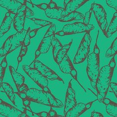 Seed pods_Amie'sTeal custom fabric by andso for sale on Spoonflower Design Seeds, Seed Pods, Surface Design, Creative Business, Custom Fabric, Spoonflower, Fabric Design, Branding Design, Craft Projects