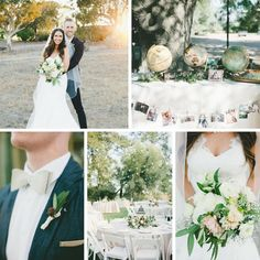 Romantic Outdoor Wedding with a Vintage Travel Themed Reception